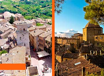 Tour of San Gimignano & Volterra